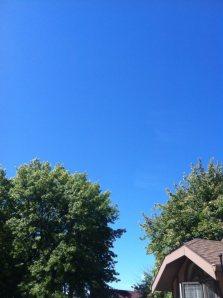 Blue Sky - Brown Gables OCT 2013