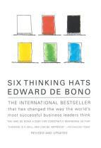 Six Thinking Hats Book Cover Edward de Bono