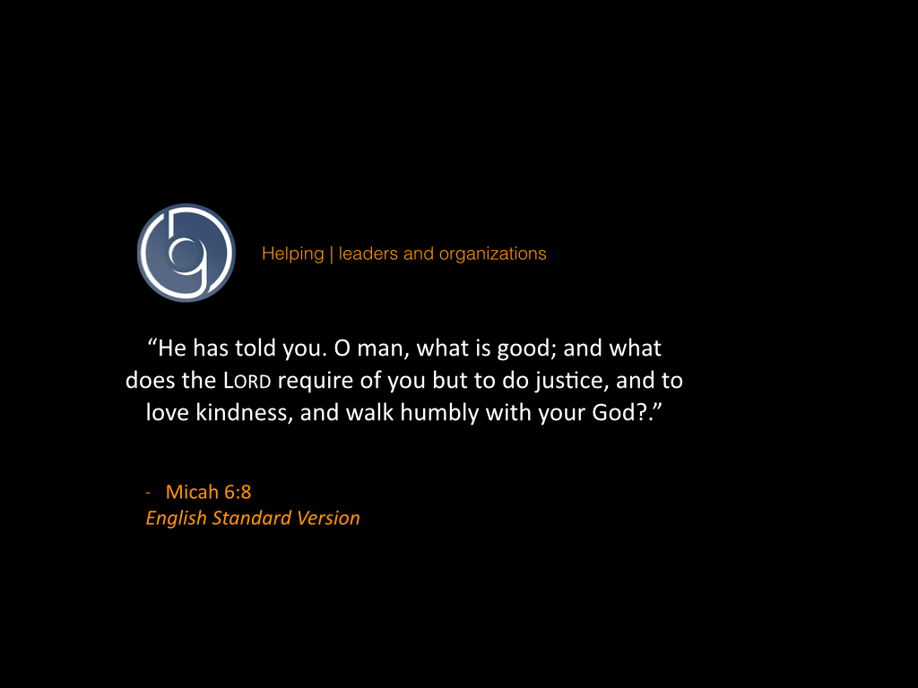 Kindness, Justice, and Humility