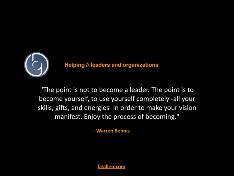 Quote from Warren Bennis