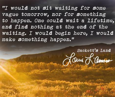 On waiting by Louis L'Amour