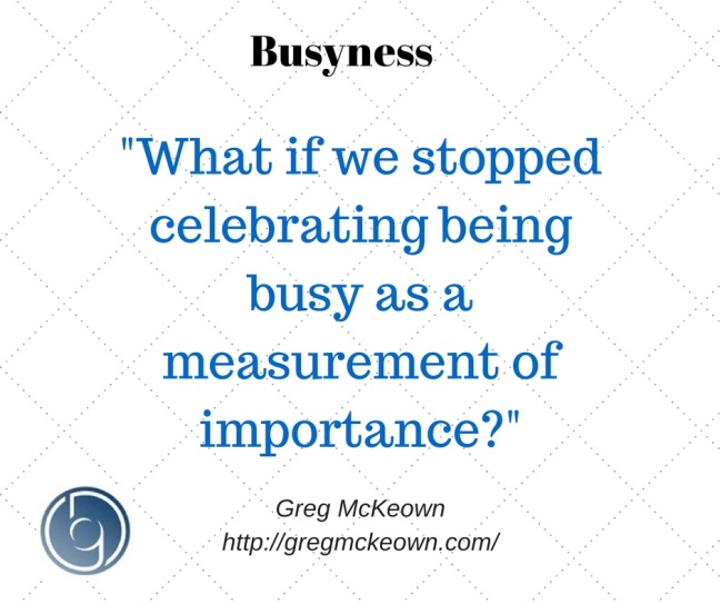 Busyness quote