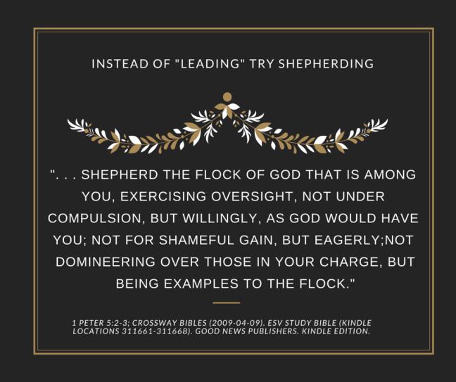 A leadership verse 1 Peter 5-2-3
