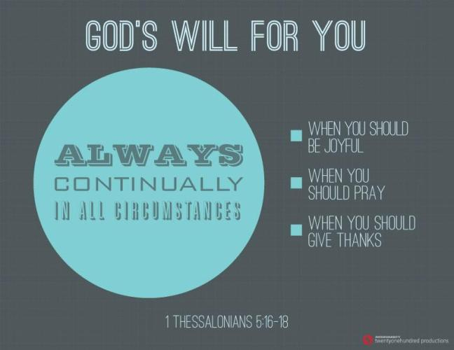 God's Will for you MAY 2015