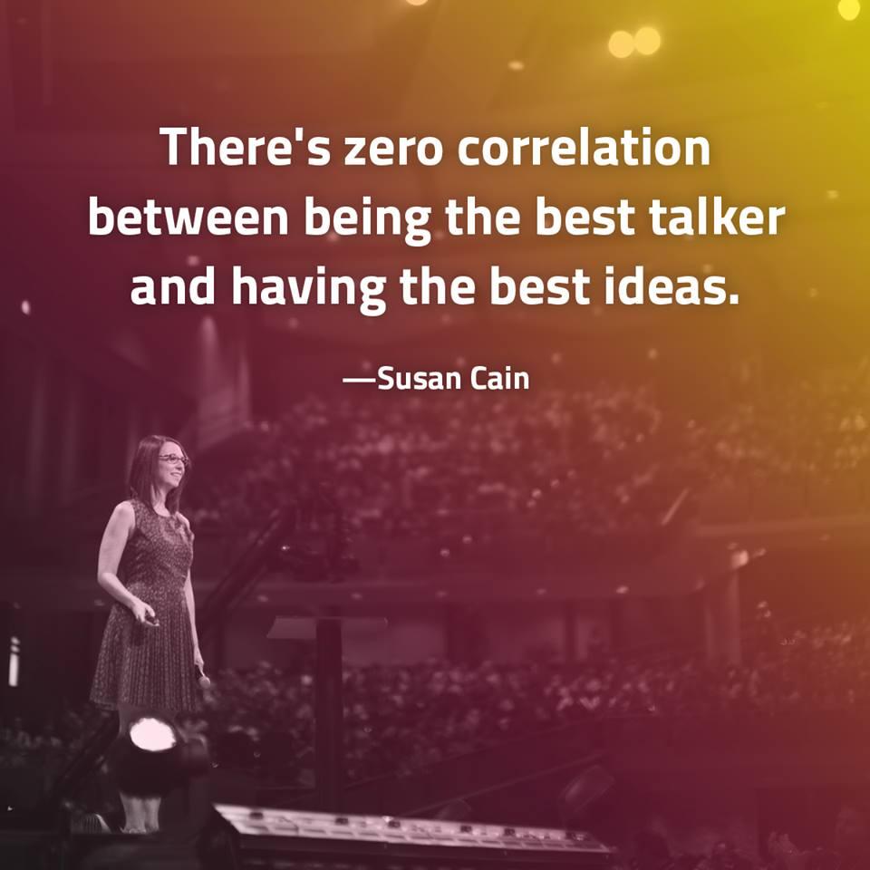 Susan Cain - ideas and talking