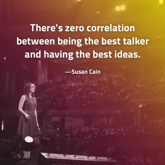 Susan Cain - ideas and talking