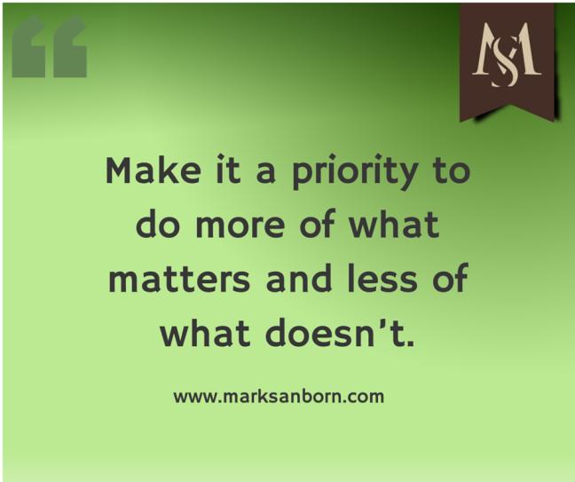 Priorities Mark Sanborn