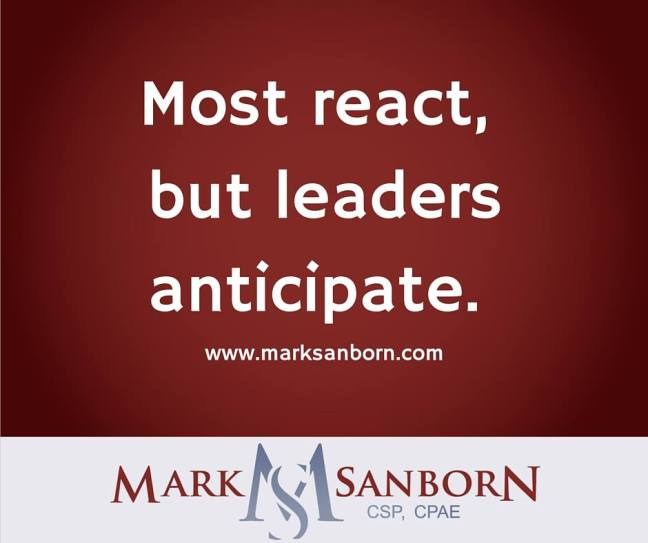 Mark Sanborn - Anticipate